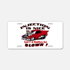 Injection Blown? Aluminum License Plate