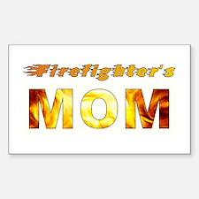 FIREFIGHTER'S MOM Sticker (Rectangle)