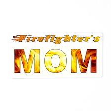 FIREFIGHTER'S MOM Aluminum License Plate