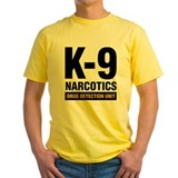 German shepherd k9 Mens Yellow T-shirts