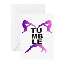 Tumbling Girls Greeting Cards (Pk of 20)