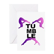 Tumbling Girls Greeting Card