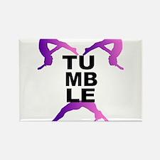 Tumbling Girls Rectangle Magnet (10 pack)