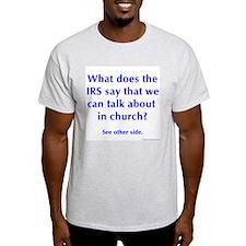 in church Ash Grey T-Shirt
