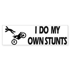 Motorcycle, Funny Motorcycle Stunts Bumper Sticker
