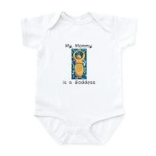 Mommy Goddess Blue Infant Bodysuit