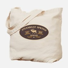 Steamboat Springs Belt Buckle Badge Tote Bag