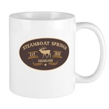 Steamboat Springs Belt Buckle Badge Mug