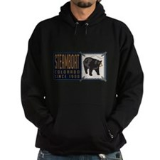 Steamboat Black Bear Badge Hoodie