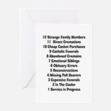 12 days of funeral home.PNG Greeting Cards (Pk of