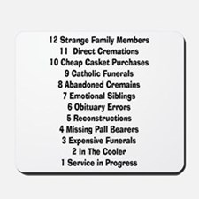 12 days of funeral home.PNG Mousepad