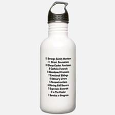 12 days of funeral home.PNG Water Bottle