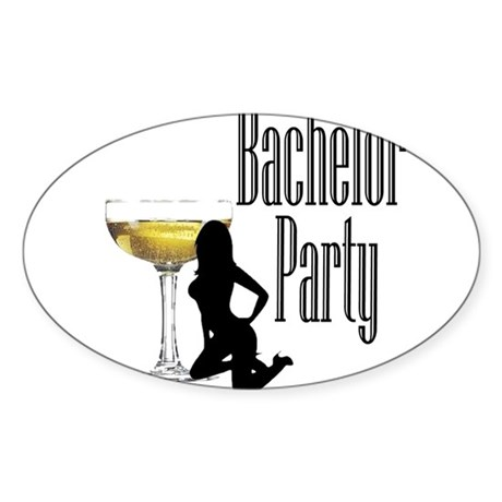 bachelorpartygirl.png Sticker (Oval 10 pk)