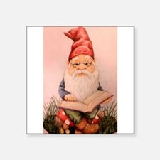 """Literary Gnome Square Sticker 3"""" x 3"""""""