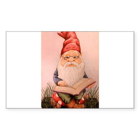 Literary Gnome Sticker (Rectangle)