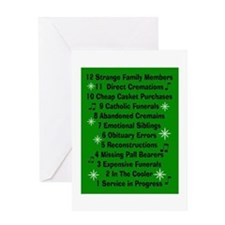 12 days if funeral home green.PNG Greeting Card