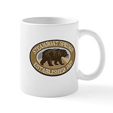 Steamboat Springs Brown Bear Badge Mug