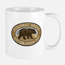Steamboat Springs Brown Bear Badge Mug