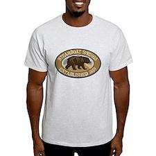 Steamboat Springs Brown Bear Badge T-Shirt