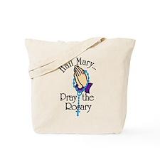 Pray The Rosary Tote Bag