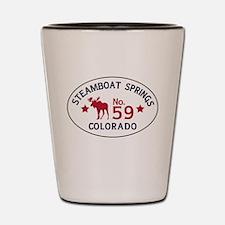 Steamboat Springs Moose Badge Shot Glass