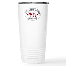Steamboat Springs Moose Badge Travel Mug