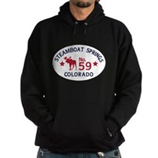 Steamboat Springs Moose Badge Hoodie