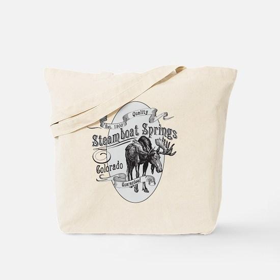Steamboat Springs Vintage Moose Tote Bag