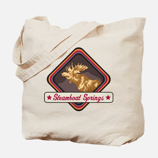 Steamboat Springs Pop-Moose Patch Tote Bag