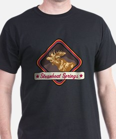 Steamboat Springs Pop-Moose Patch T-Shirt