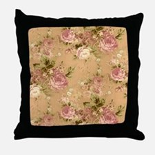 Beautiful Vintage Flowers Throw Pillow