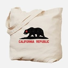 California Grunge Bear Tote Bag