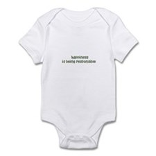 happiness is being responsib Infant Bodysuit