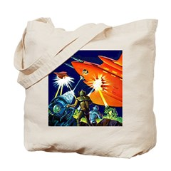 Invasion of the Micro-Men Tote Bag