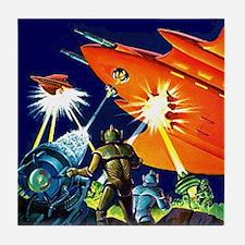 Invasion of the Micro-Men Tile Coaster