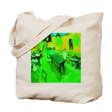 Night Cafe Neon Green Tote Bag