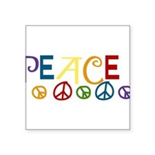 "Peace Square Sticker 3"" x 3"""