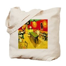 Night Cafe Golden Tote Bag
