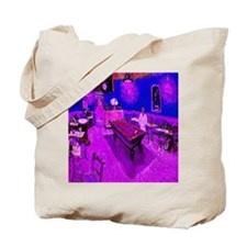 Night Cafe Sinful Cyan Tote Bag