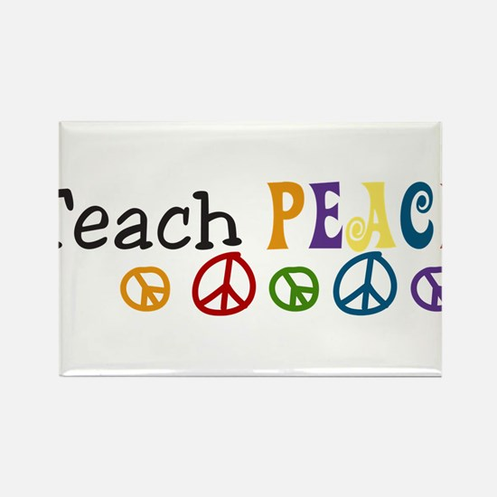 Teach Peace Rectangle Magnet