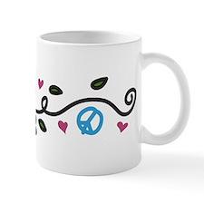 Peace And Flowers Mug