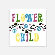 """Flower Child Square Sticker 3"""" x 3"""""""
