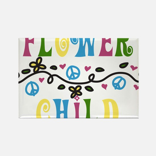 Flower Child Rectangle Magnet