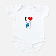 I Heart (love) Milk Infant Bodysuit