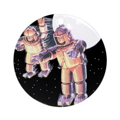 Moon Invaders Ornament (Round)