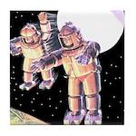 Moon Invaders Tile Coaster