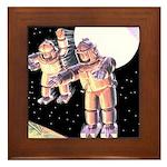 Moon Invaders Framed Tile