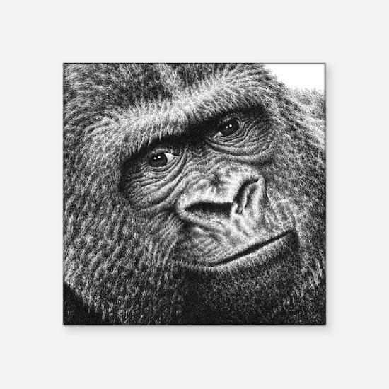 """Gorilla Square Sticker 3"""" x 3"""""""