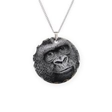 Gorilla Necklace Circle Charm