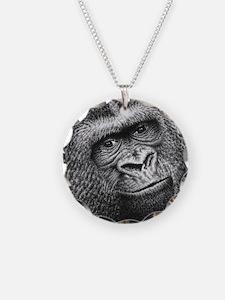 Gorilla Necklace Circle Charm